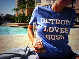 Detroit Loves Bush Reggie Lions Football NFL