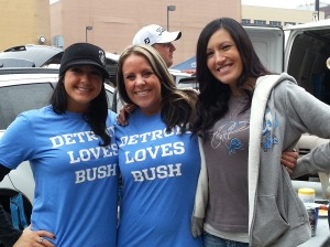Detroit Loves Bush Reggie NFL Football Detroit Lions Girls Women Ladies Tailgate Tshirt Tee Shirt