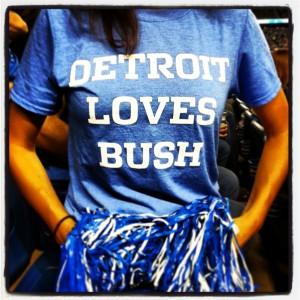 Detroit Loves Bush Reggie Bush NFL Detroit Lions Football Tshirt